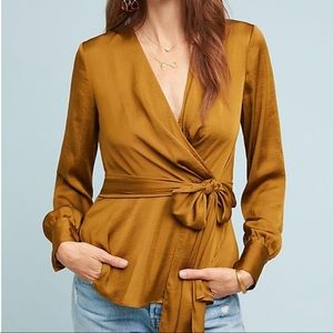 Anthropologie Tie-Front Blouse